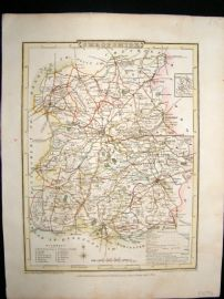Roper after Cole 1808 Antique Hand Col Map. Shropshire, UK